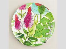Melamine Floral Fiji Dinner Plates, Set of 4   World Market