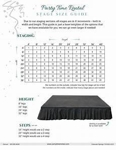 Stage Chart Size Guides Amp Tips Party Time Rental
