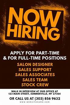 Now Hiring Template Flyer 32 Now Hiring Flyer Template In 2020 With Images