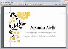 Pdf Business Card Tips For Creating A Print Ready Business Card