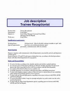 Receptionist Duties Resume 10 Example Resume Receptionist Job Description
