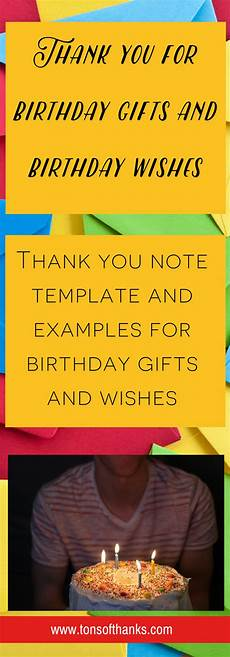 Thank You Note For A Thank You Gift 27 Thank You For Birthday Gifts And Wishes Examples