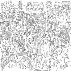 zoo colouring in poster by really posters