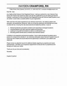 Cover Letter For Healthcare Job Leading Professional Intensive Care Nurse Cover Letter