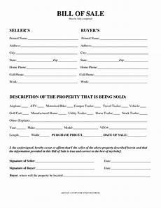 Bill Of Sale Az Free Printable Equipment Bill Of Sale Template Form Generic