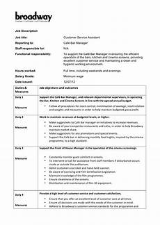Duties Of A Customer Service Executive Customer Service Assistant Job Description New Style