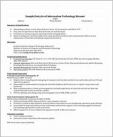 It Resumes Templates It Resume Sample 16 Examples In Word Pdf