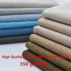 high quality linen style polyester fabric craft cushion