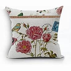 nunubee flower cotton linen home decor throw sofa car