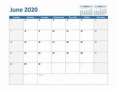 Calendar 2020 For Word Free June 2020 Printable Calendar In Pdf Word Excel