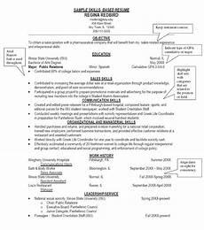 Skill Based Resume Example Sample Chronological Resume Template