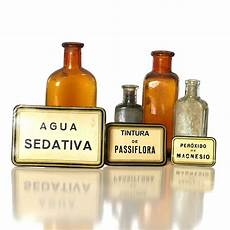 Medicine Bottle Label Apothecary Labels Spanish Medicine Bottle Labels Set Of Three