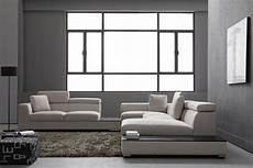 Sectional Sofa Grey 3d Image by Forte Grey Microfiber Modern Sectional Sofas Couches