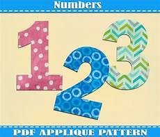 Numbers Design Template Numbers Applique Pattern Template Pdf Download Instant