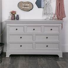 large grey 7 drawer chest daventry dove grey range