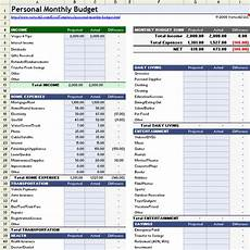 Monthly Expenses Excel Sheet Format Monthly Budget Spreadsheet For Excel