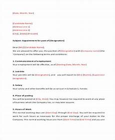 Appointment Letter For Job Format 12 Job Appointment Letter Templates Doc Pdf Free