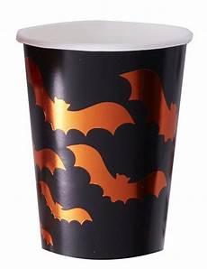 bicchieri neri vetro 8 bicchieri in cartone neri con pipistrelli arancioni su