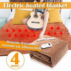 160x130cm waterproof electric bed blanket 4 mode automatic