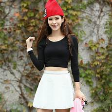 belly clothes for fashion sleeve cropped top t shirt belly tops