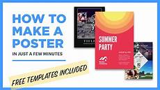 Make A Poster For Free How To Make A Poster Free Templates Included Youtube