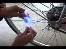Bicycle Wheel Lights Youtube Bicycle Bike Led Spoke Wheel Blue Bright Light Batteries