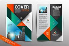 Pamflet Designs Pamphlet Design Template With City Background Vector