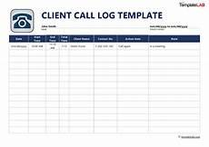 Call Log Template For Excel 40 Printable Call Log Templates Word Excel Pdf