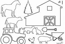 Ausmalbilder Vorlagen Bauernhof Ausmalbild Quot Bauernhof Traktor Tiere Quot Zum Ausschneiden