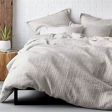 Light Grey Textured Duvet Cover Domino Vernon Duvet Cover Light Gray The Company Store 174