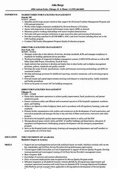 Facilities Manager Resume Director Facilities Management Resume Samples Velvet Jobs