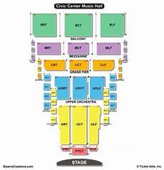 Okc Civic Center Seating Chart Civic Center Music Hall Seating Chart Seating Charts