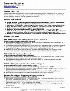 Management Objectives For Resume Executive Sample Performance Objectives For Managers