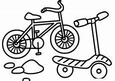 ausmalbilder zum drucken malvorlage fahrrad kostenlos 2