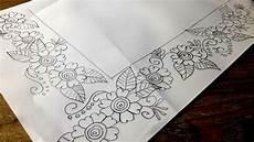 Nakshi Kantha Design Nakshi Kantha Floral Design Drawing নকশ ক থ র ফ ল Bed