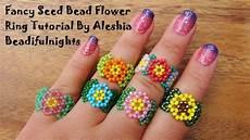 fancy seed bead flower ring tutorial
