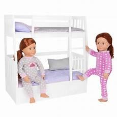 bunks white doll bunk bed furniture set