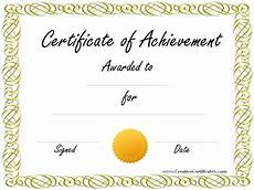 Certificates Of Achievement Free Templates Free Customizable Certificate Of Achievement