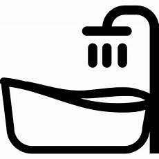 bath tub free tools and utensils icons