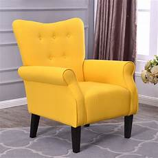 arm chair accent single sofa linen fabric upholstered