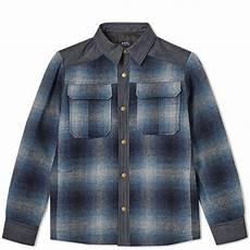 Light Blue Check Jacket A P C Mark Check Shirt Jacket Light Blue End