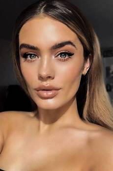 makeup ideas bold defined brows sunkissed