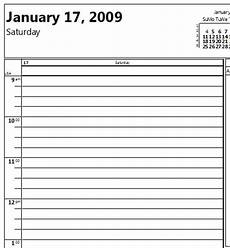 Daily Calendar Template 30 Minute Increments Daily Planner 5 Minute Increments Calendar June