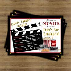 The Invitation Movie Online Movie Birthday Invitation Movie Theatre Birthday Invitation