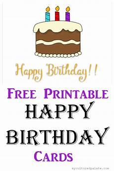 Printable Happy Birthday Cards Online Free Free Printable Happy Birthday Cards Cultured Palate
