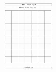 Graph Paper 8x11 1 Inch Graph Paper With Black Lines A