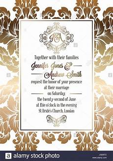 formal invitation background designs vintage baroque style wedding invitation card template