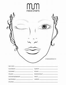Brown Face Chart Blank Blank Face Chart Temples And Female Libros De