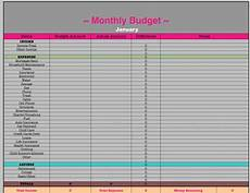 Yearly Expenses Spreadsheet Monthly Amp Yearly Budget Spreadsheets Excel Budget
