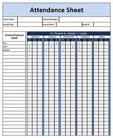 School Attendance Template Attendance Sheet Word Template Word Templates For Free